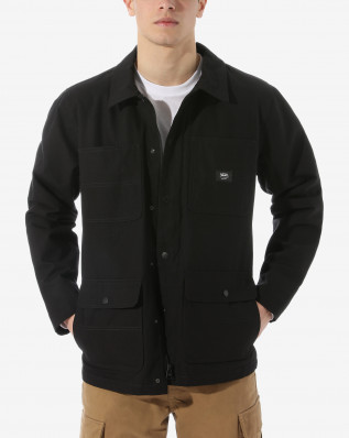 MN DRILL CHORE COAT Black