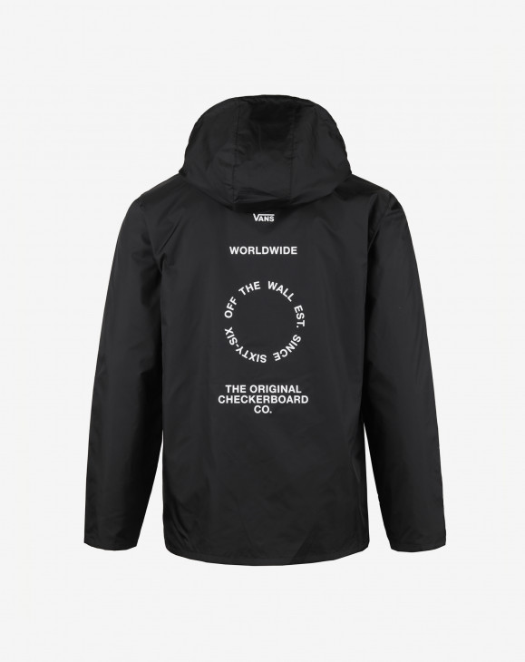 detail DISTORT TYPE ANORAK BLACK