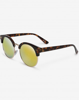 RAYS FOR DAZE SUNGLASSES TORTOISE-SUNSET MIRROR LENS