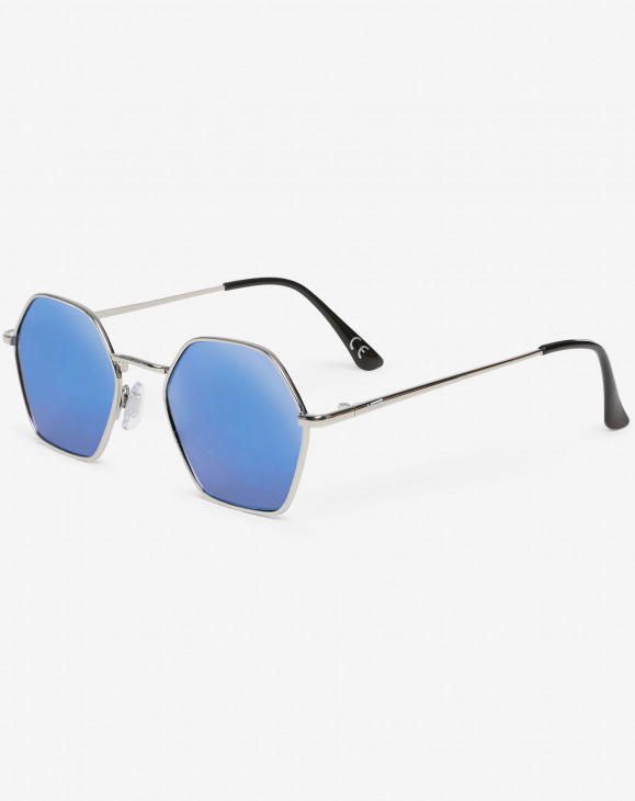 detail RIGHT ANGLE SUNGLASSES SILVER-BLUE MIRROR LENS