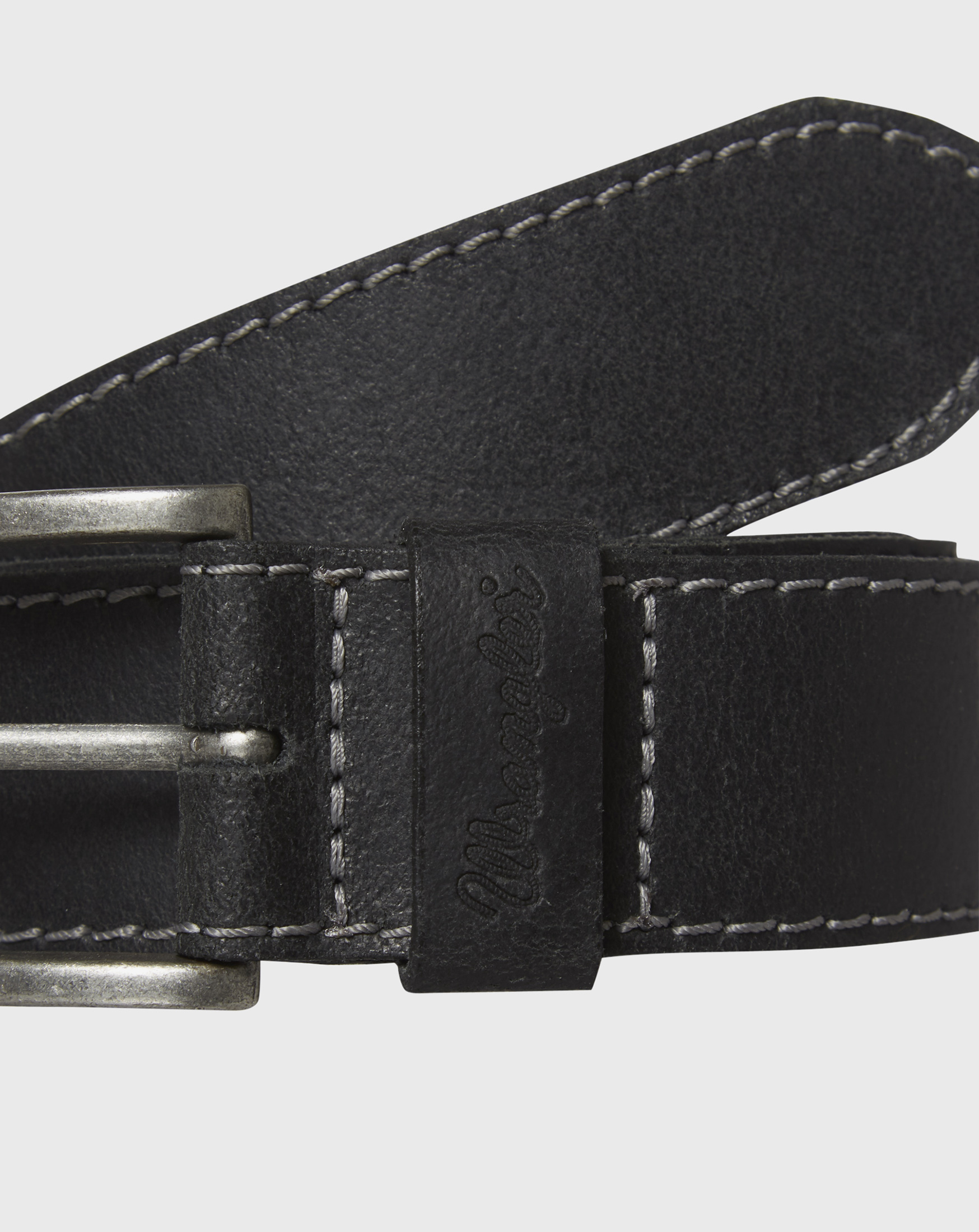 detail BASIC STITCHED BELT BLACK