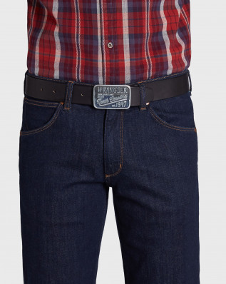 CTF DENIM BUCKLE BEL BLACK