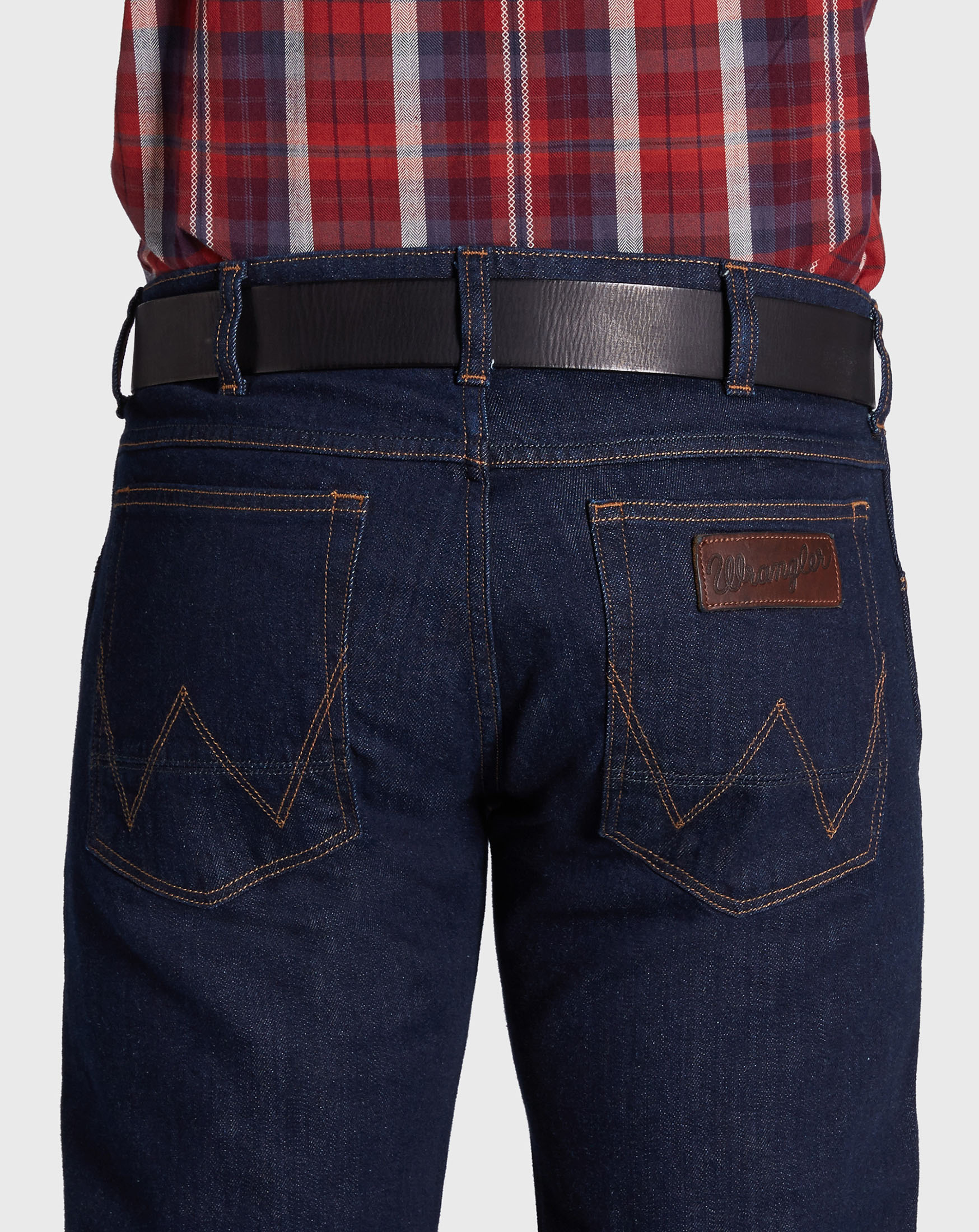 detail CTF DENIM BUCKLE BEL BLACK