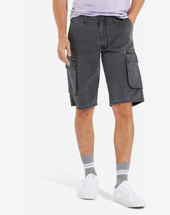 detail CARGO SHORT FADED BLACK
