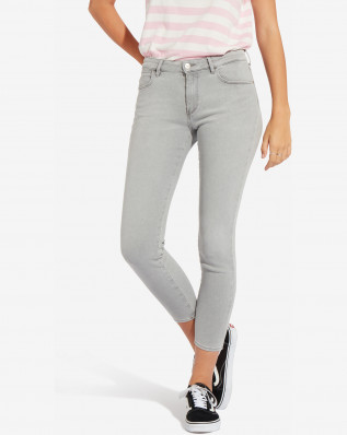 SKINNY CROP CRYSTALS GREY