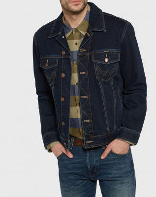 AUTH WESTERN JACKET BLUE BLACK