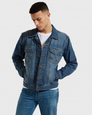 WESTERN DENIM JACKET MID STONE