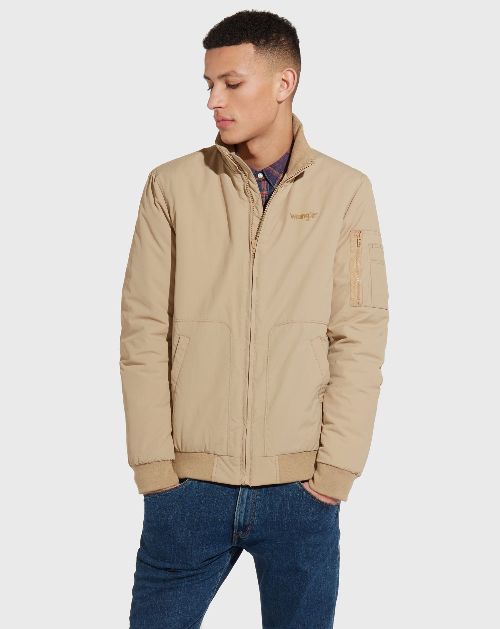 detail CLASSIC BOMBER CLAY BEIGE