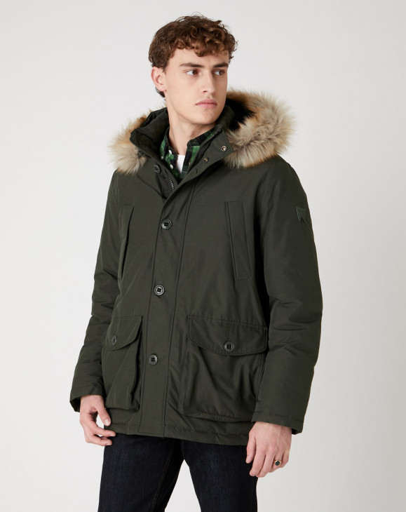 detail THE PARKA ROSIN GREEN