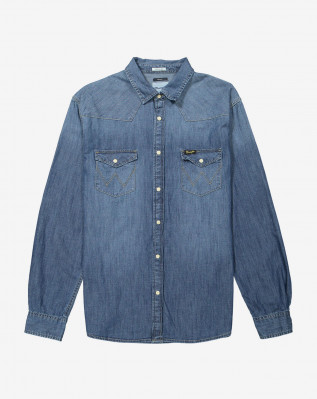WESTERN DENIM SHIRT MID INDIGO