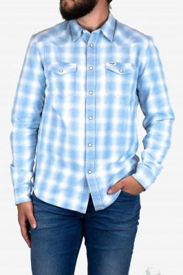 LS WESTERN SHIRT LIGHT INDIGO
