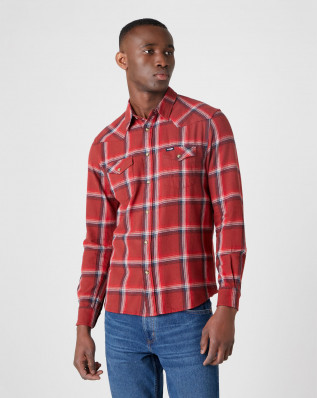 LS WESTERN SHIRT RUSTY BROWN