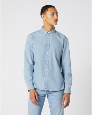 LS 1 PKT BUTTON DOWN INDIGO
