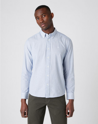 LS BUTTON DOWN SHIRT WRANGLER BLUE