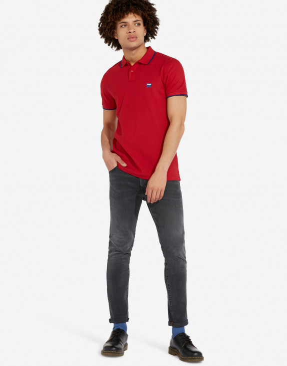 detail SS PIQUE POLO RED