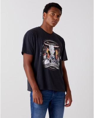 SS BULL TEE FADED BLACK