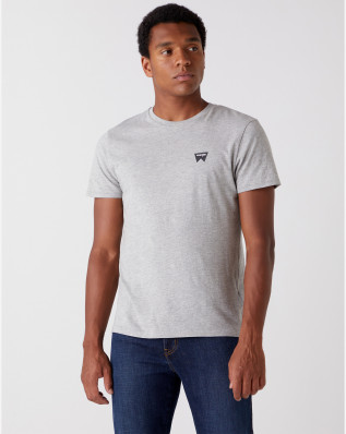 SS SIGN OFF TEE MID GREY MEL