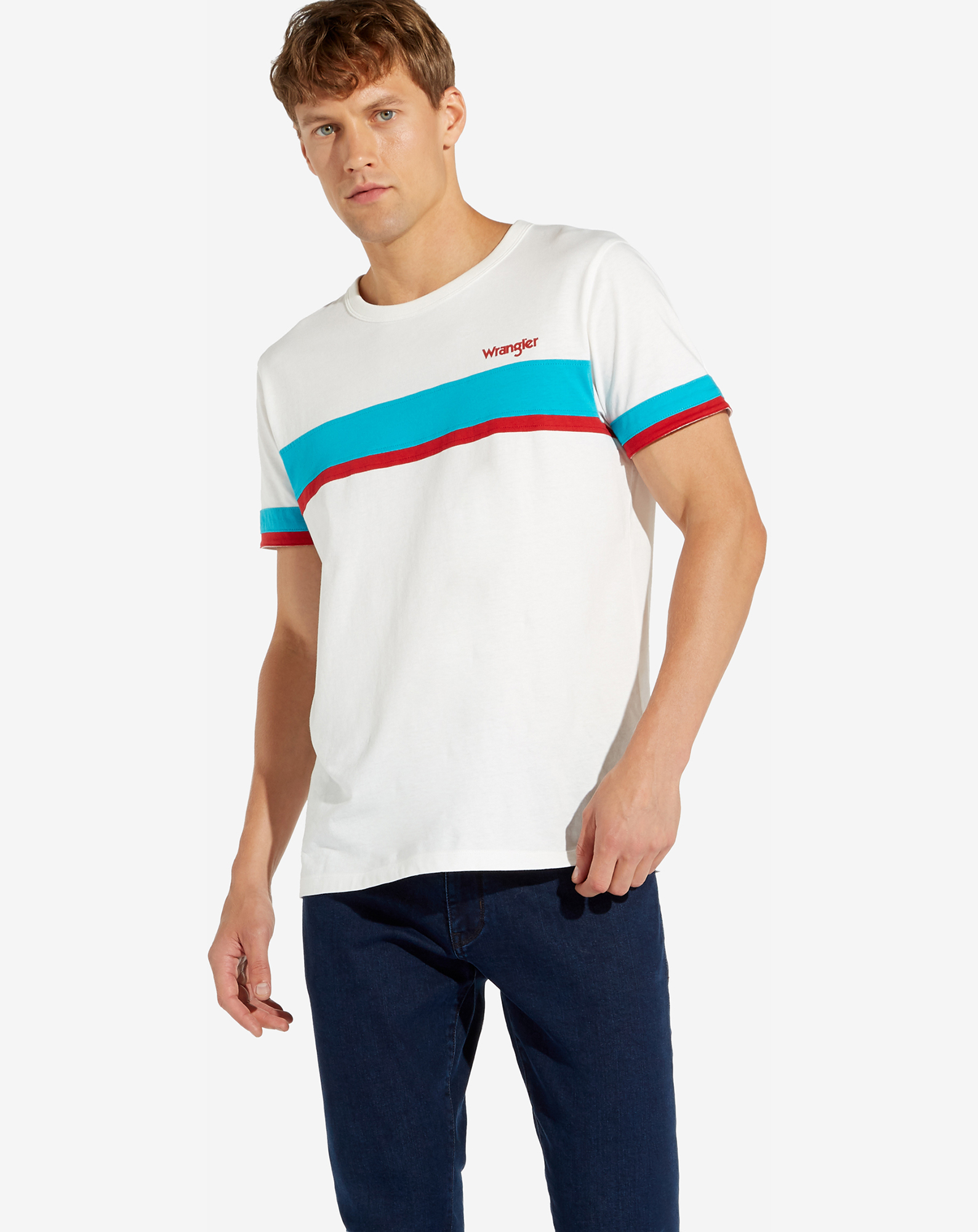 BAND STRIPE TEE OFFWHITE